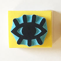 Wink Eye Hand Carved Rubber Stamp