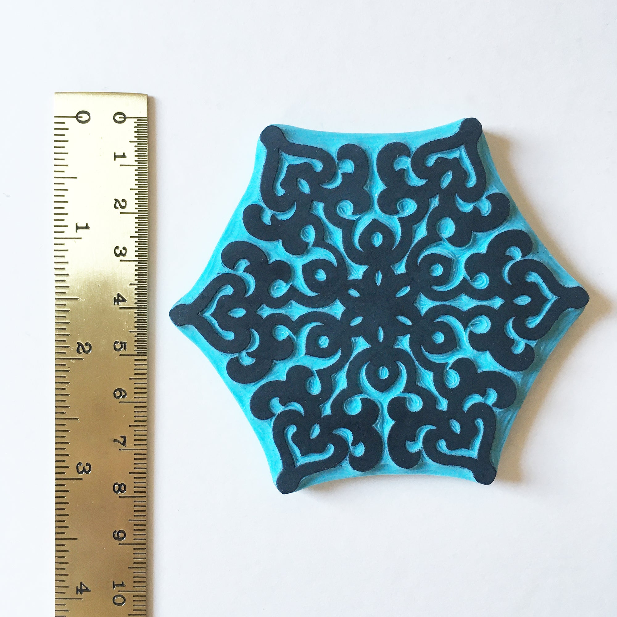 Snowflake rubber stamps, Christmas ornament stamp, cassastamps