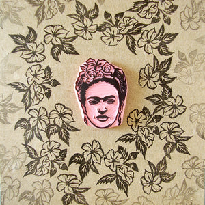 Frida Kahlo Portrait Rubber Stamp