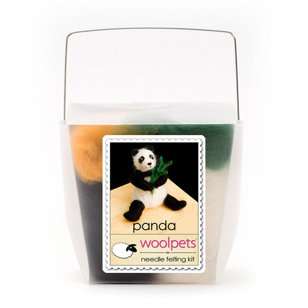 Panda Bear Needle Felting Kit