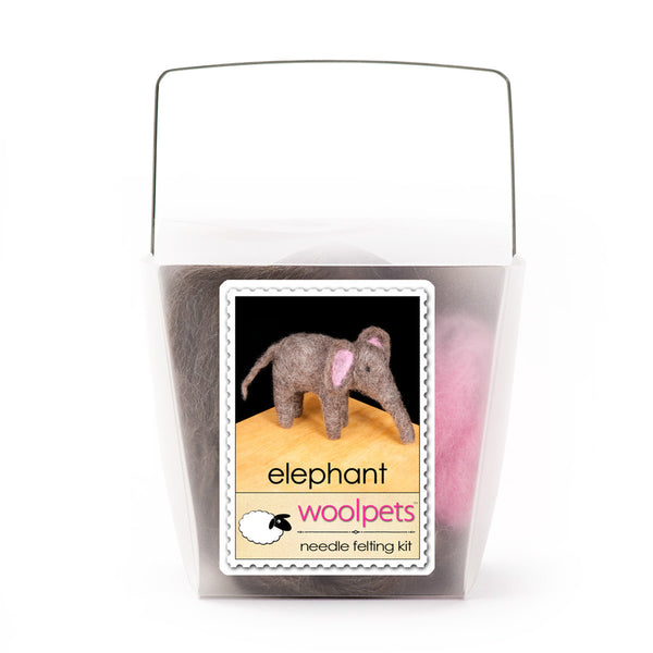 Elephant Needle Felting Kit