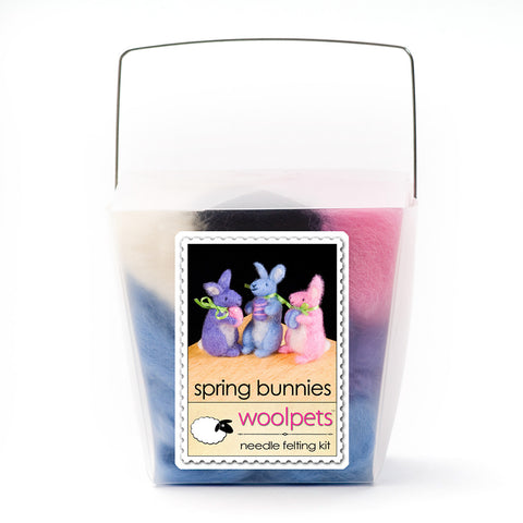 Spring Bunnies Needle Felting Kit