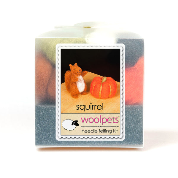 Squirrel Needle Felting Kit with Foam Pad