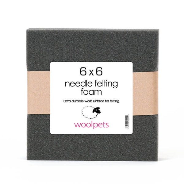 6x6 Needle Felting Charcoal Foam Pad