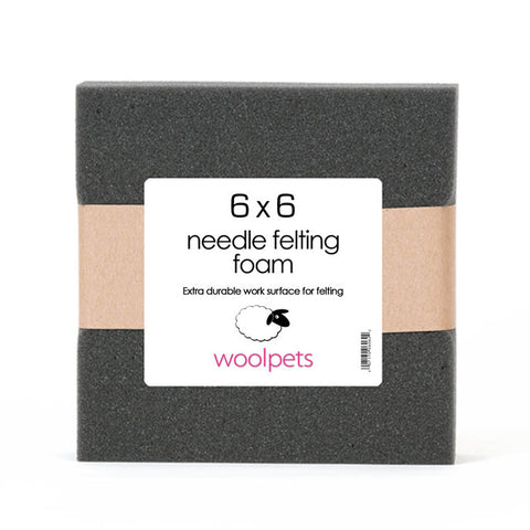 6x6x2 Needle Felting Charcoal Foam Pad