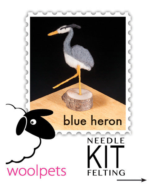 Blue Heron Needle Felting Kit