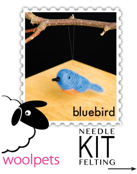 Bluebird Needle Felting Kit
