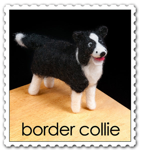 Woolpets finished border collie stamp