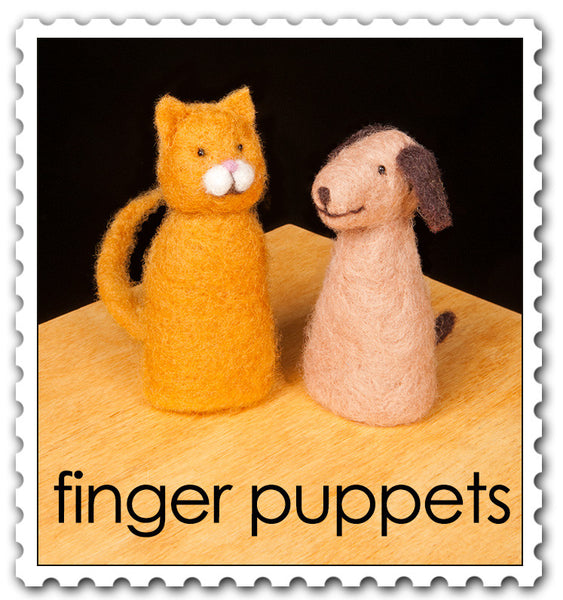 Finger Puppets Needle Felting Kit incl. Foam Pad