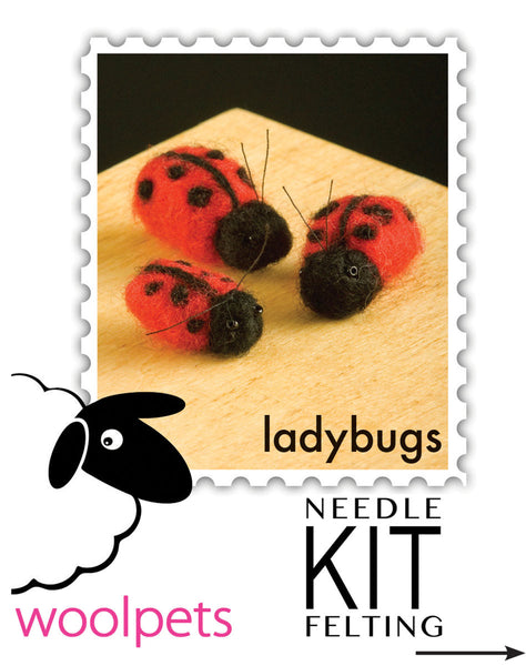 Ladybugs & Bees Needle Felting Kit