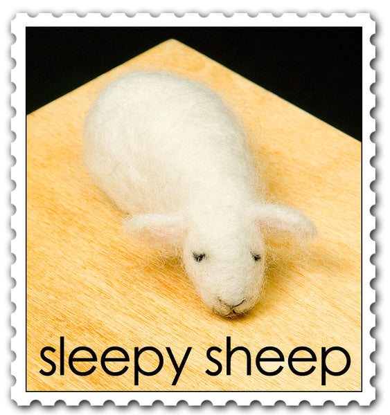 Sleepy Sheep Needle Felting Kit