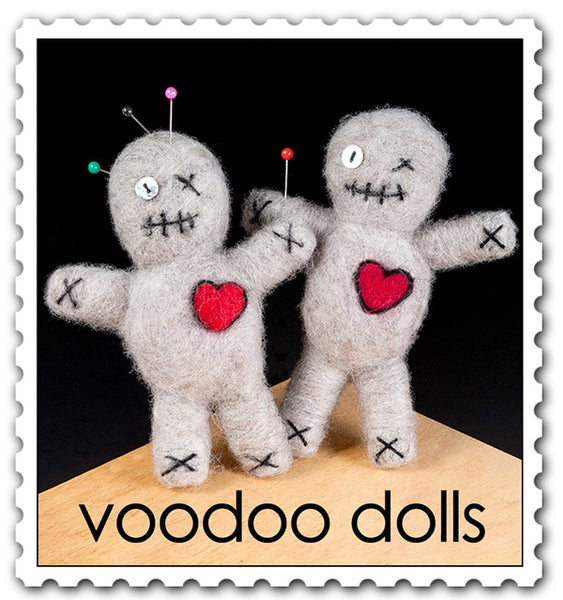 Woolpets finished voodoo dolls stamp