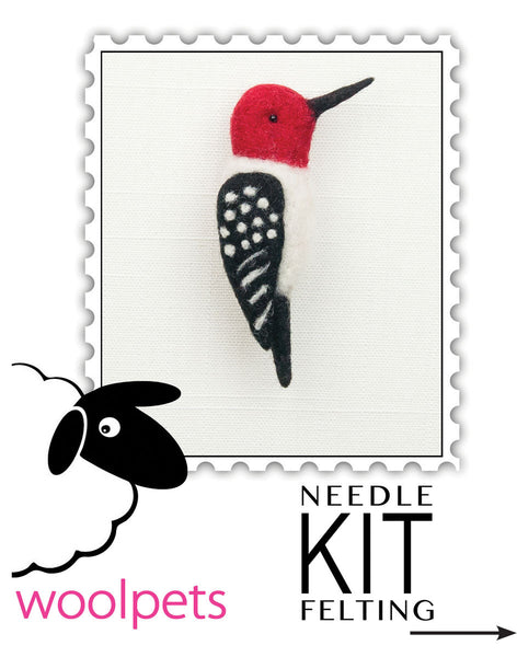 Woodpecker Pin Needle Felting Kit