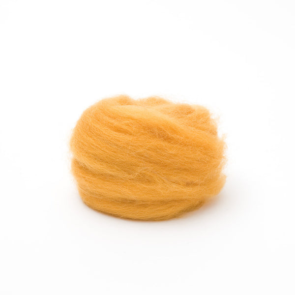 1 oz. Butterscotch Wool Roving
