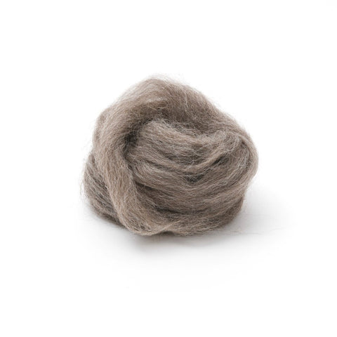 1 oz. Dark Gray Wool Roving