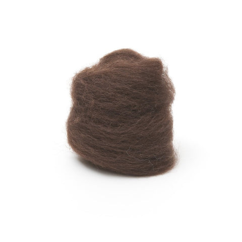 1 oz. Chocolate Wool Roving