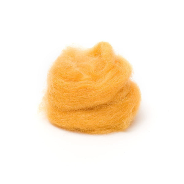 1 oz. Marigold Wool Roving