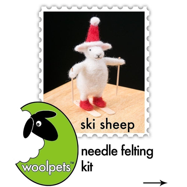 Ski Sheep Needle Felting Kit