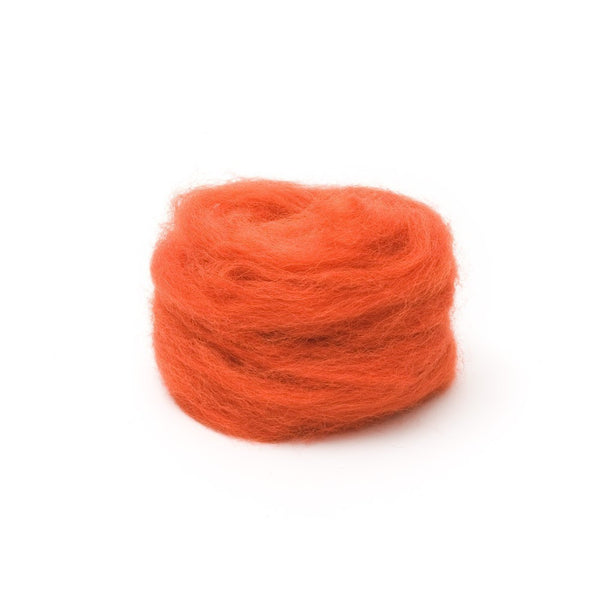 1 oz. Pumpkin Wool Roving