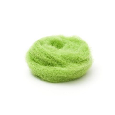 1 oz. Lime Wool Roving