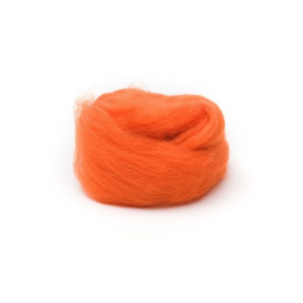 1 oz. Orange Wool Roving