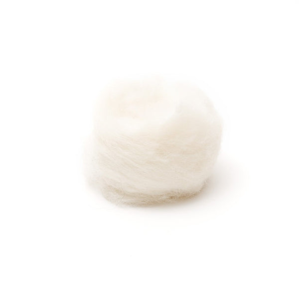 1 oz. White Wool Roving