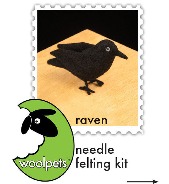 Raven Needle Felting Kit