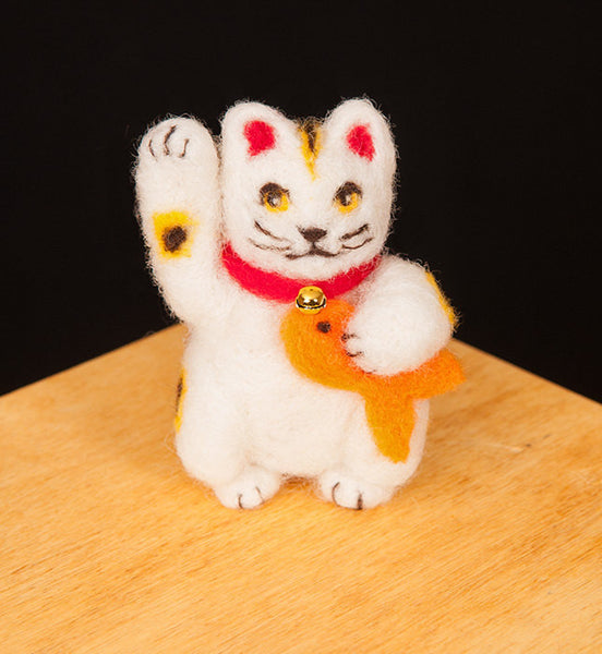 Maneki-Neko Needle Felting Kit