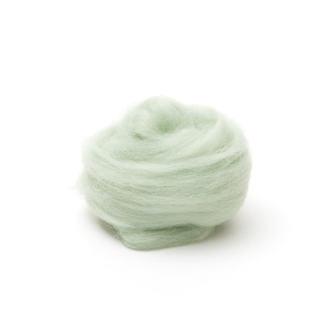 1 oz. Mint Wool Roving