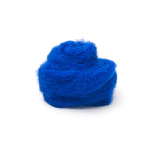 1 oz. Blue Wool Roving