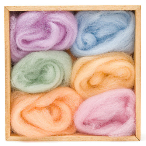 Spring Wool Roving Color Pack