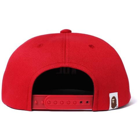 "A BATHING APE BAPE NYC LOGO ""RED"" SNAP BACK CAP"