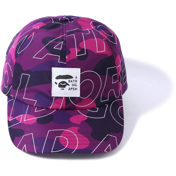 "A BATHING APE Text ""PURPLE"" Color Camo Cap"