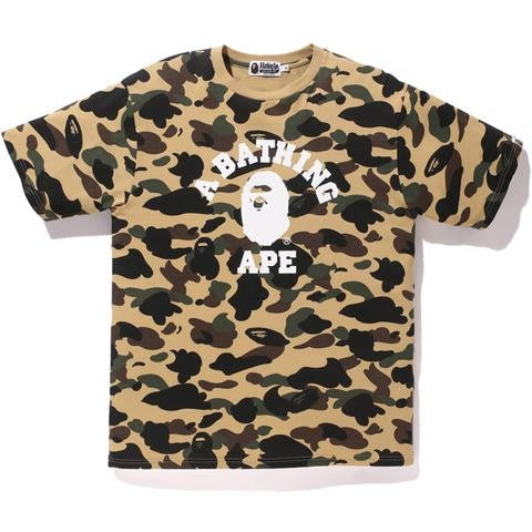 "A Bathing Ape 1st Camo College ""Yellow"" Tee"