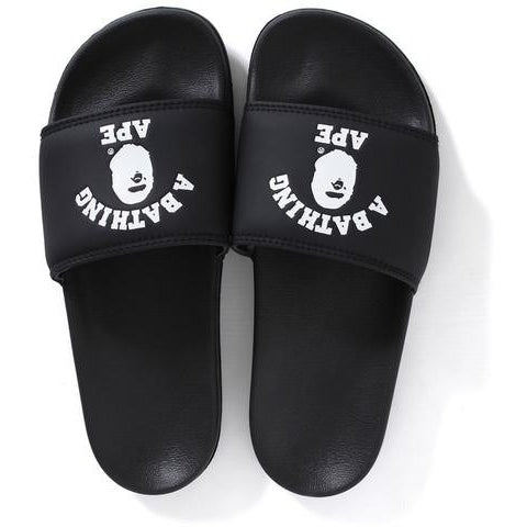 "A Bathing Ape College Logo ""Black"" Slides"