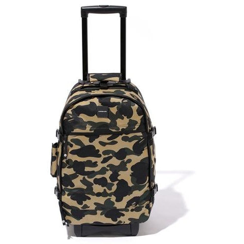A BATHING APE 1ST YELLOW CAMO TRAVEL LUGGAGE