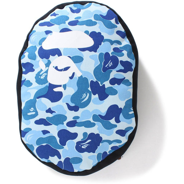 "A BATHING APE BAPE ABC ""BLUE"" CAMO HEAD CUSHION PILLOW"