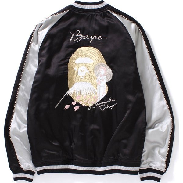 "A BATHING APE ""BLACK"" SOUVENIR JACKET"