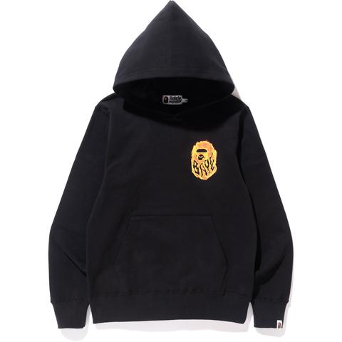 "A BATHING APE BAPE BURN ""BLACK"" PULLOVER HOODIE"