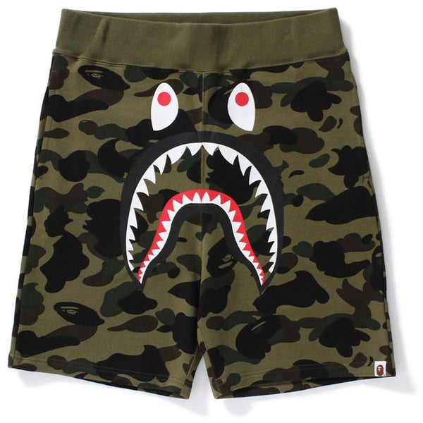 "A BATHING APE 1ST CAMO ""GREEN"" SWEAT SHORTS"
