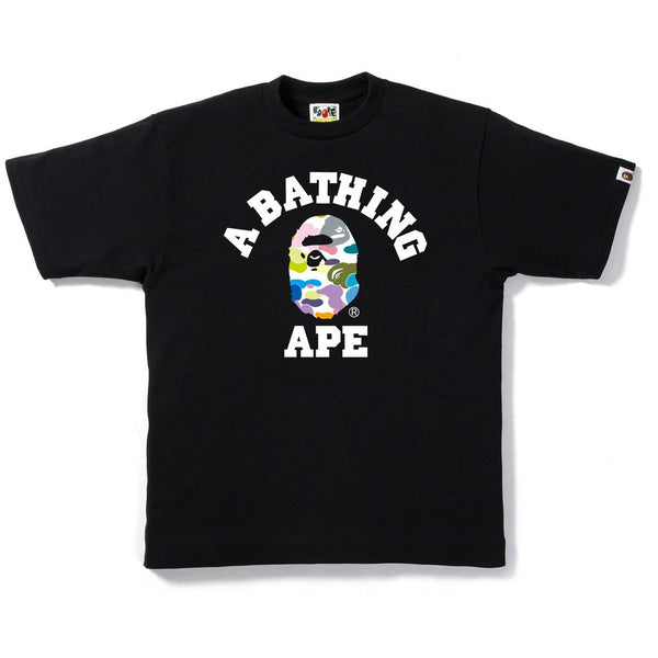 "A BATHING APE BAPE MULTI CAMO ""BLACK"" COLLEGE T-SHIRT"