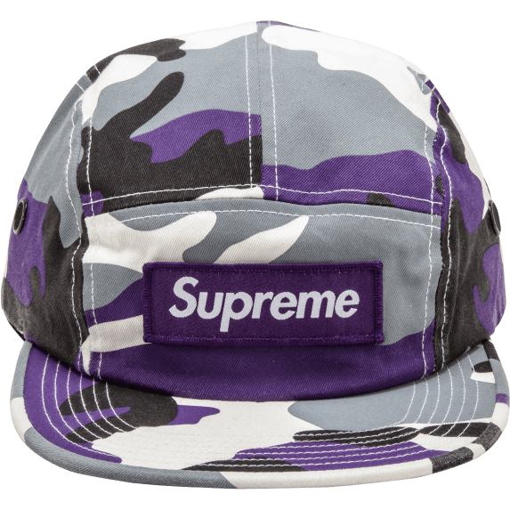 "Supreme FW16 ""Purple Camo"" Box Logo Camp Cap"