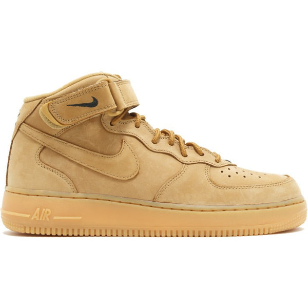"2016 NIKE AIR FORCE 1 MID 07 PRM QS ""FLAX"""