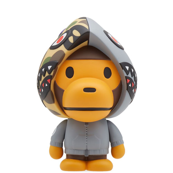 "A BATHING APE MEDICOM TOY VCD ""BABY MILO SHARK HOODIE GRAY"""