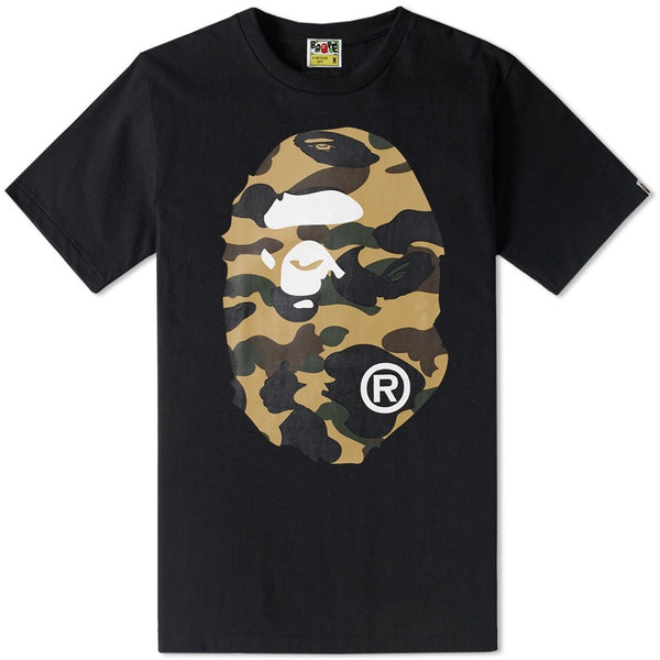 Bape 1st Camo Big Ape Head Tee (Black)