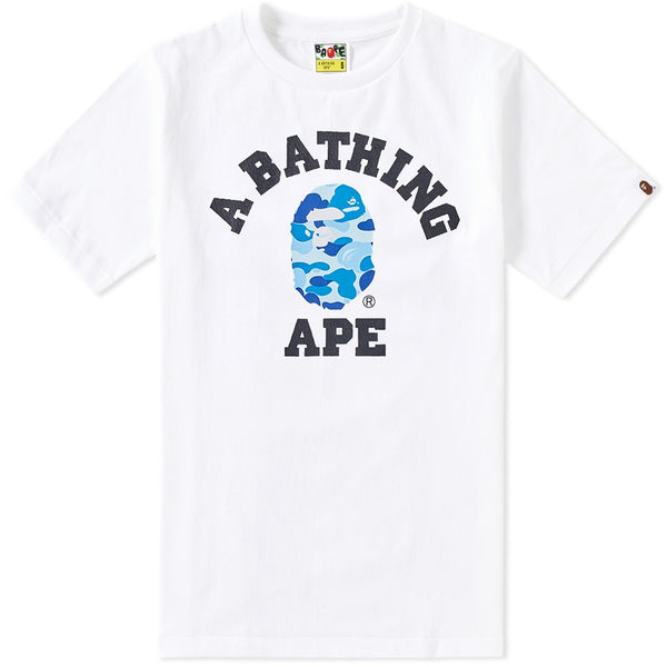 A BATHING APE ABC CAMO COLLEGE TEE
