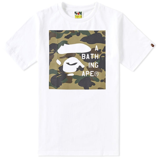 "A Bathing Ape Bape Face Tag Logo ""WHITE"""