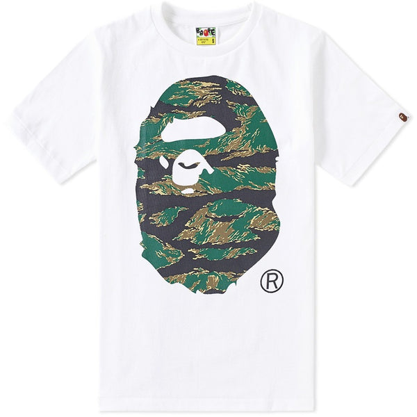 A Bathing Ape Tiger Camo Big Ape Head Tee