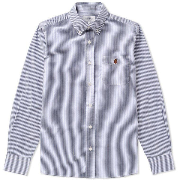 "A BATHING APE BAPE 1ST CAMO STRIPE ""BLUE"" BUTTON DOWN"