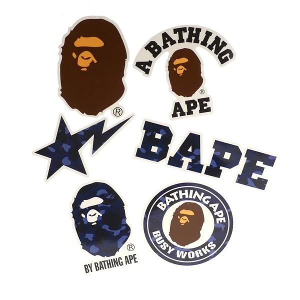 A BATHING APE BAPE BLUE STICKER SET